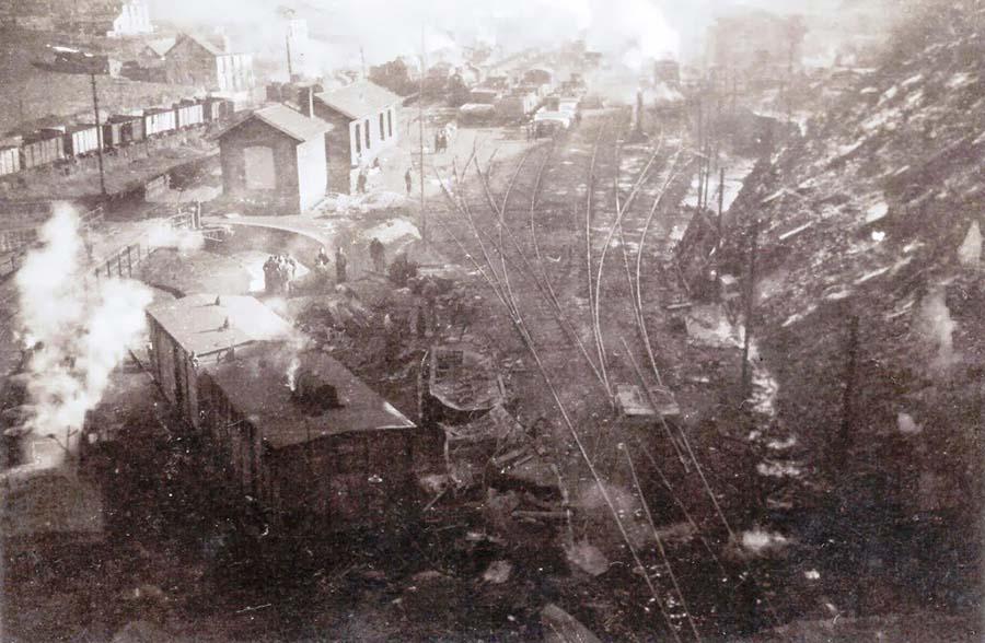 fotografia accidente ferroviario torre del bierzo 1944