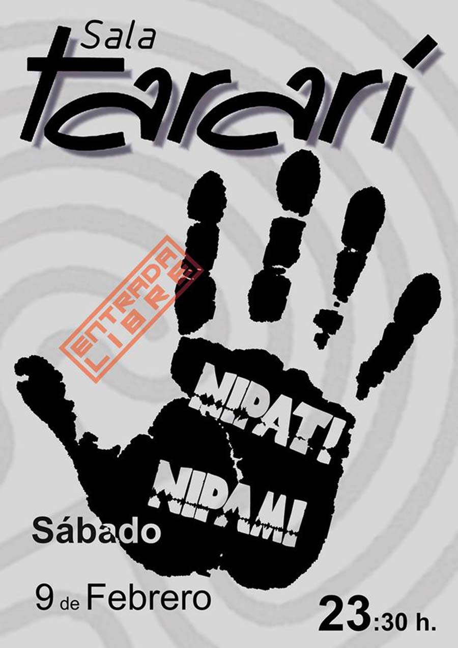 cartel nipati nipami concierto sala tarari ponferrada el bierzo