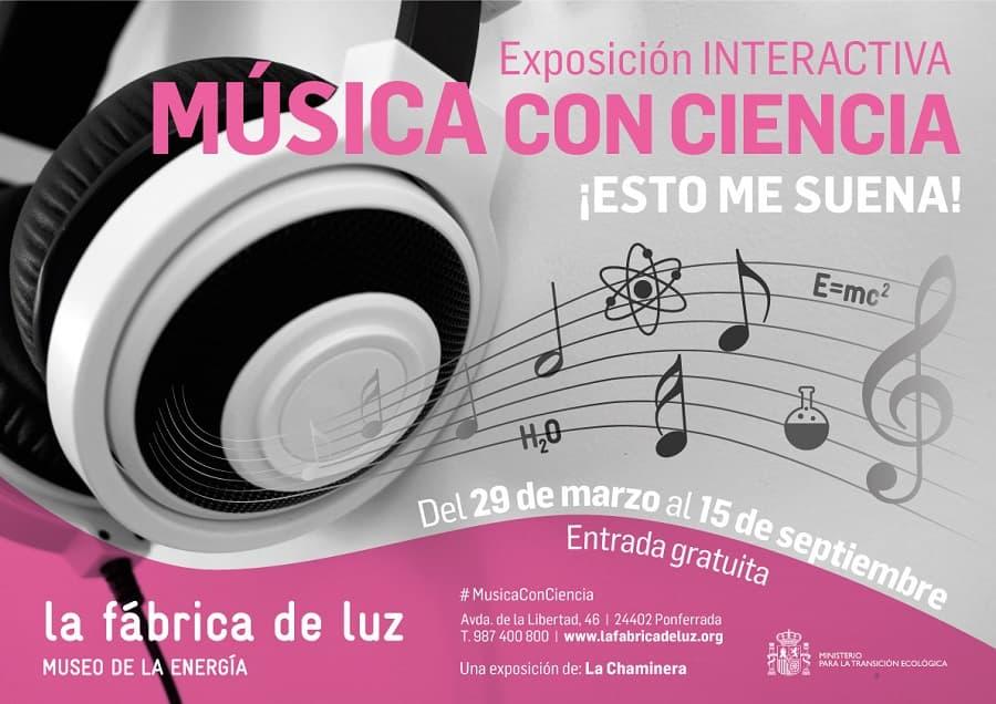 cartel exposicion temporal musica museo energia ponferrada el bierzo