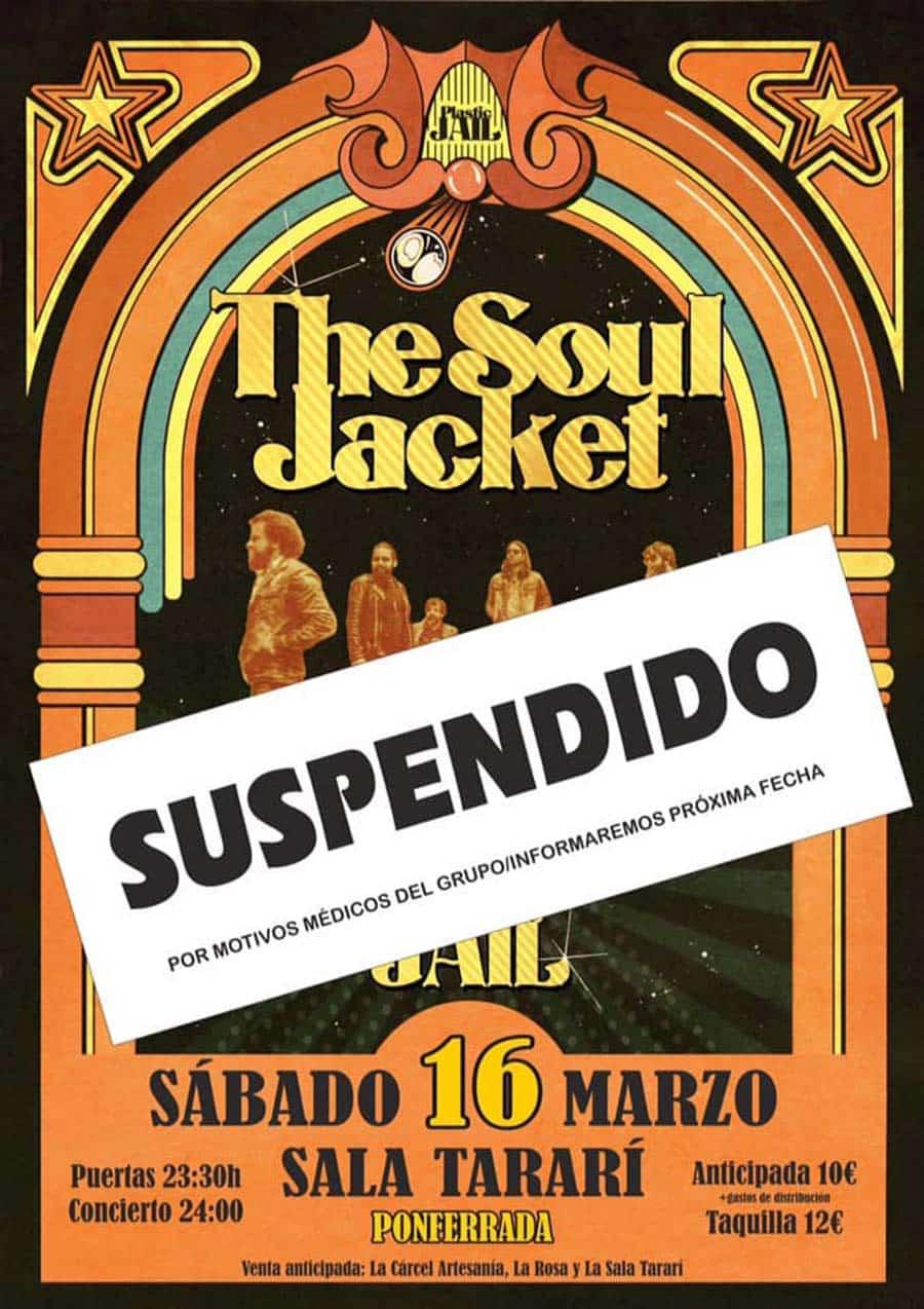 cartel the soul hacket concierto suspendido sala tarari ponferrada el bierzo