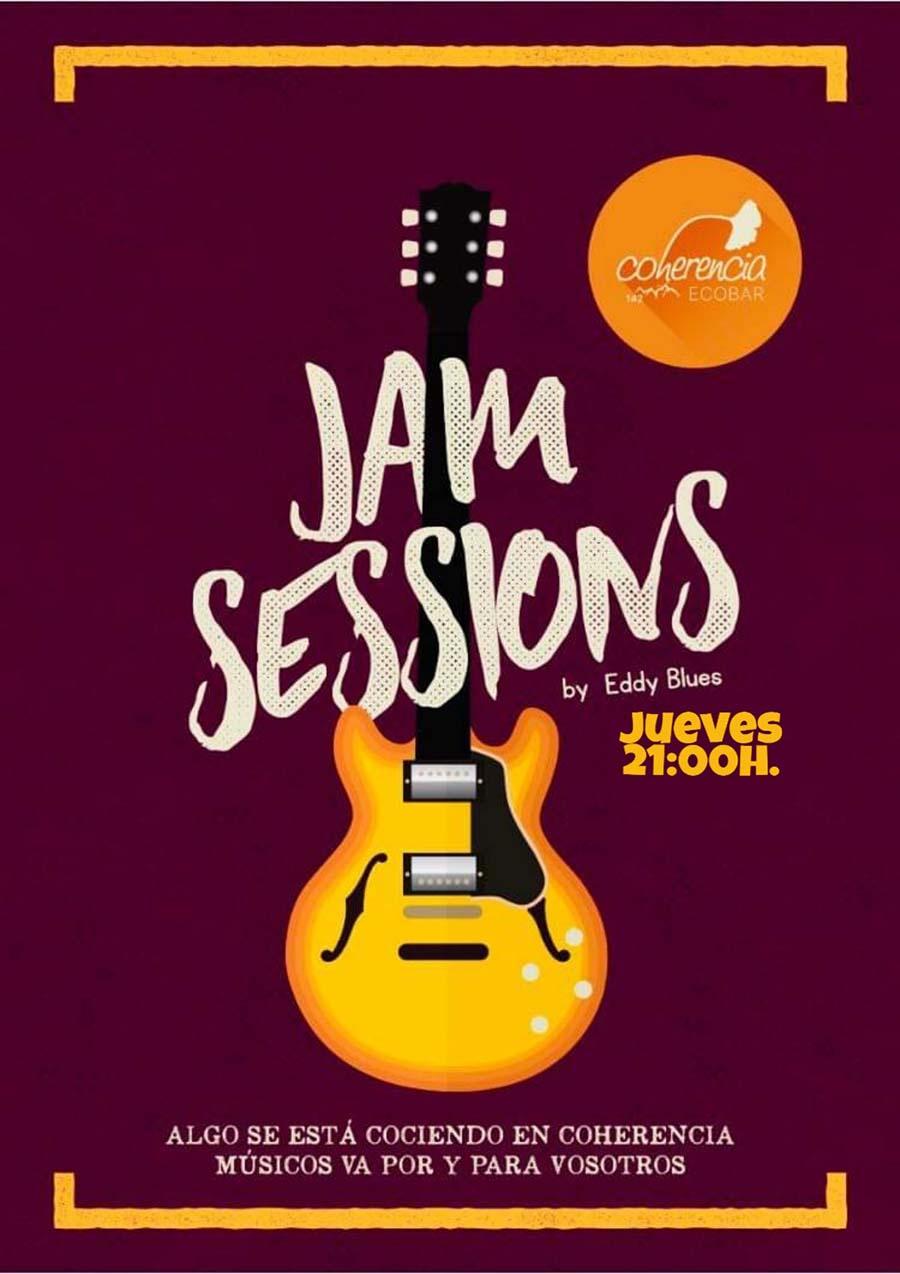 cartel jam session coherencia ecobar ponferrada el bierzo