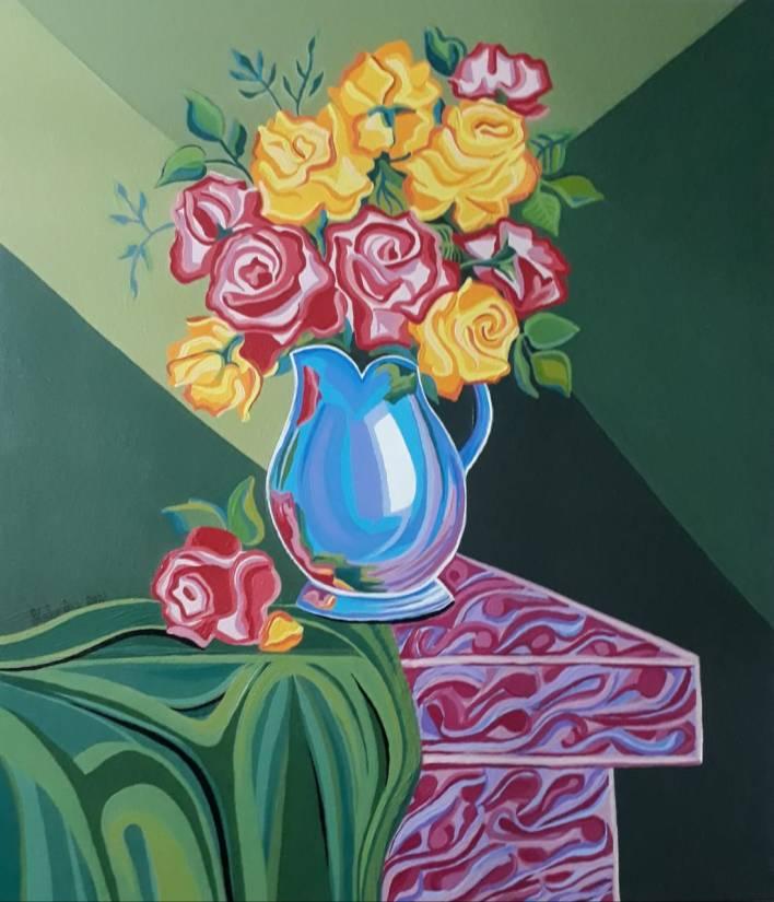 9º Festival Cultural do Brasil - Helenilce Gusmao Vaso de flores