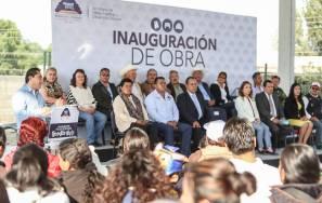 Raúl Camacho Baños inaugura el Parque Recreativo 1