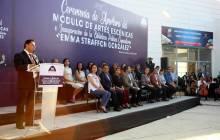 Raúl Camacho inaugura módulo de Artes Escénicas y Biblioteca Comunitaria del CEMART1