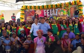 Sistema DIF Municipal y el ayuntamiento de San Salvador llevaron a cabo festival del Día del Niño1