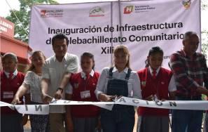 Inaugura Sayonara Vargas planteles del Telebachillerato Comunitario 2