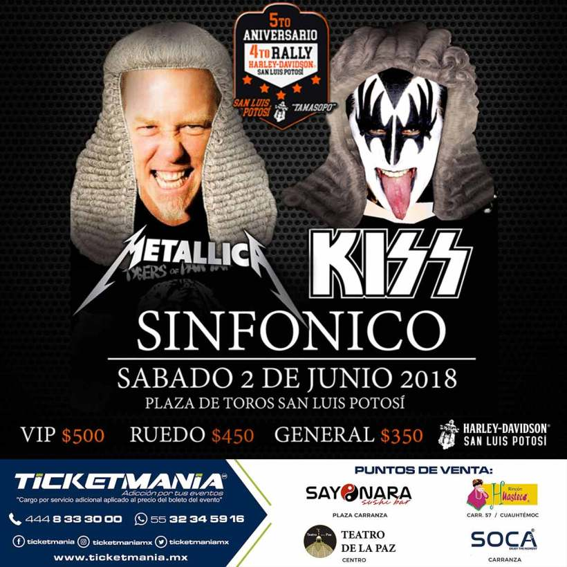 Metallica y Kiss Sinfonico SLP