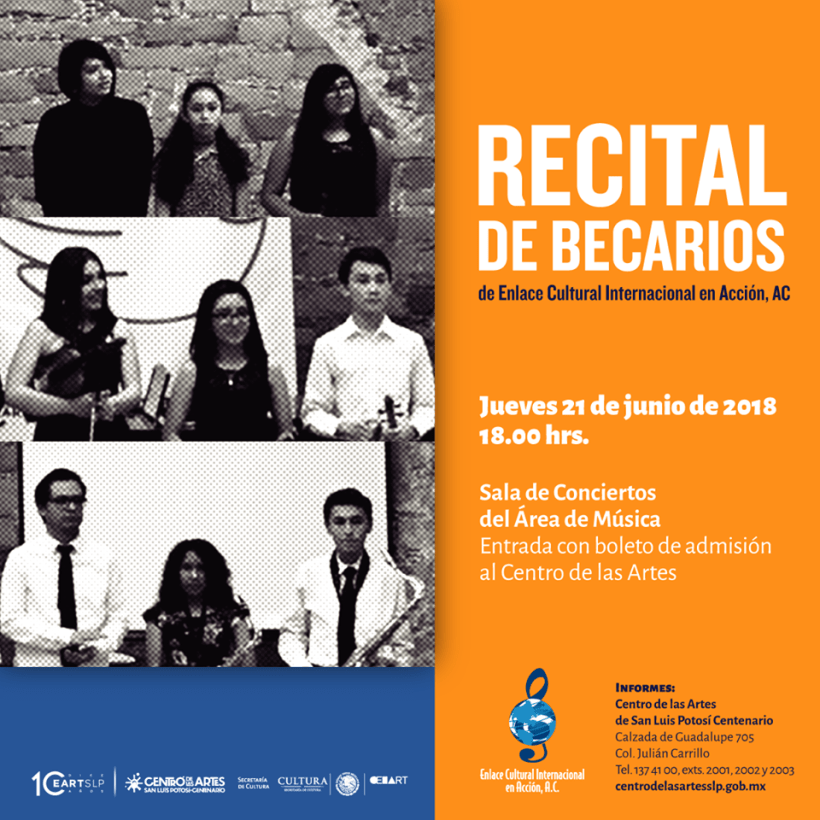 Recital becarios SLP