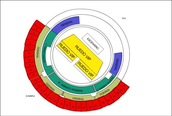 Mapa Plaza Toros