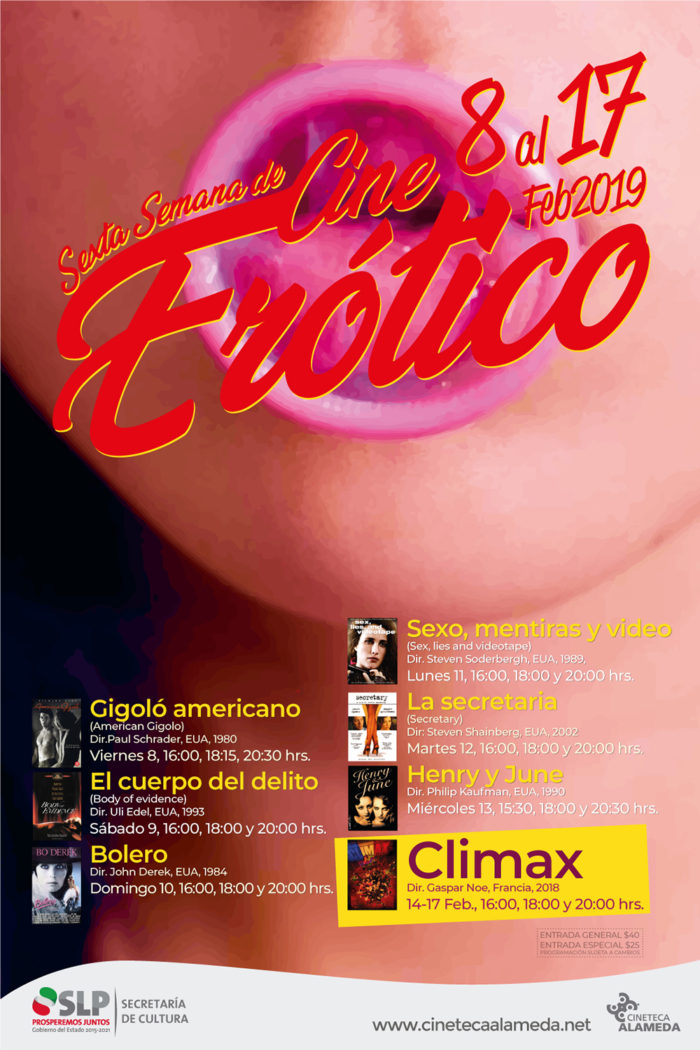 Ciclo Cine Erótico Cineteca Alameda