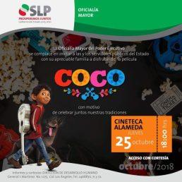 25 octubre Coco Cineteca Alameda