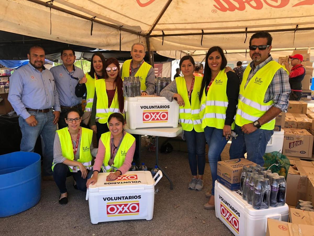Oxxo comprometido con los brigadistas de la Sierra de San Miguelito