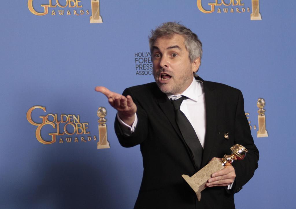 Alfonso Cuarón y su película Roma triunfan en los Globos de Oro, ganan Mejor Director y Mejor Película