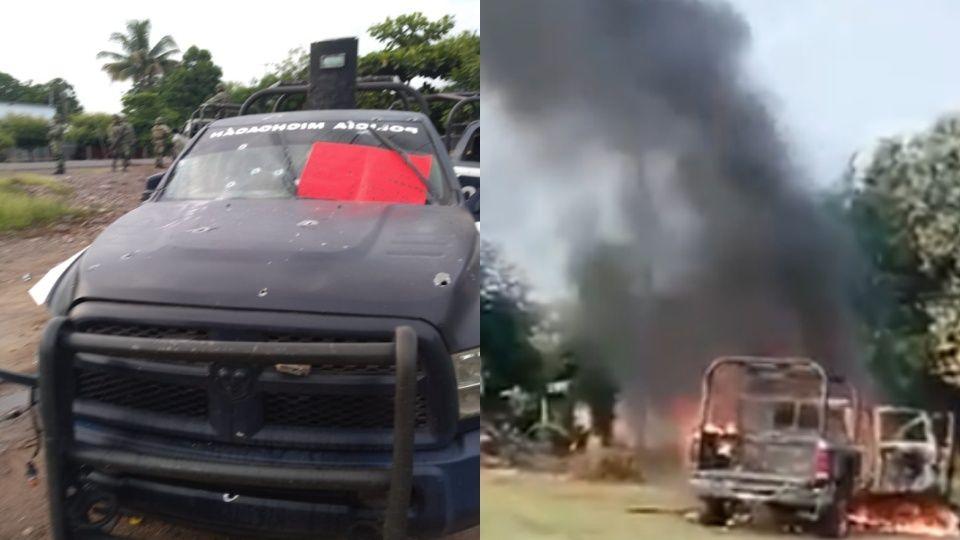 Emboscan a policías estatales en Aguililla Michoacán, hay al menos 13 muertos