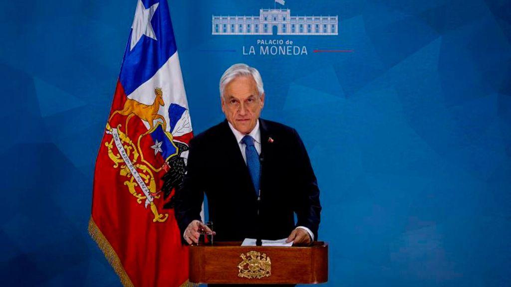 El presidente Sebastián Piñera pide perdón a los chilenos por su falta de visión