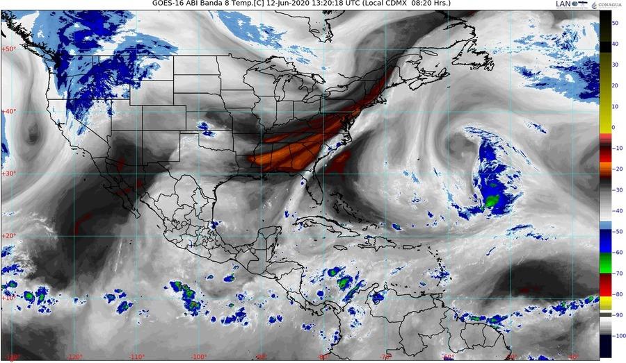Para este viernes: lluvias fuertes e intensas para el Centro y Sureste de México pronostica el SMN