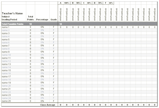 Download Ms Office Electronic teacher gradebook (middle