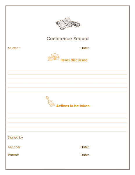 Download Ms Office Teacher and Parent Conference Record