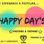 20 de Mayo – Happy day's Daesung & Taeyang!