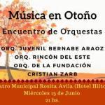 13 de Junio – Encuentro de orquestas