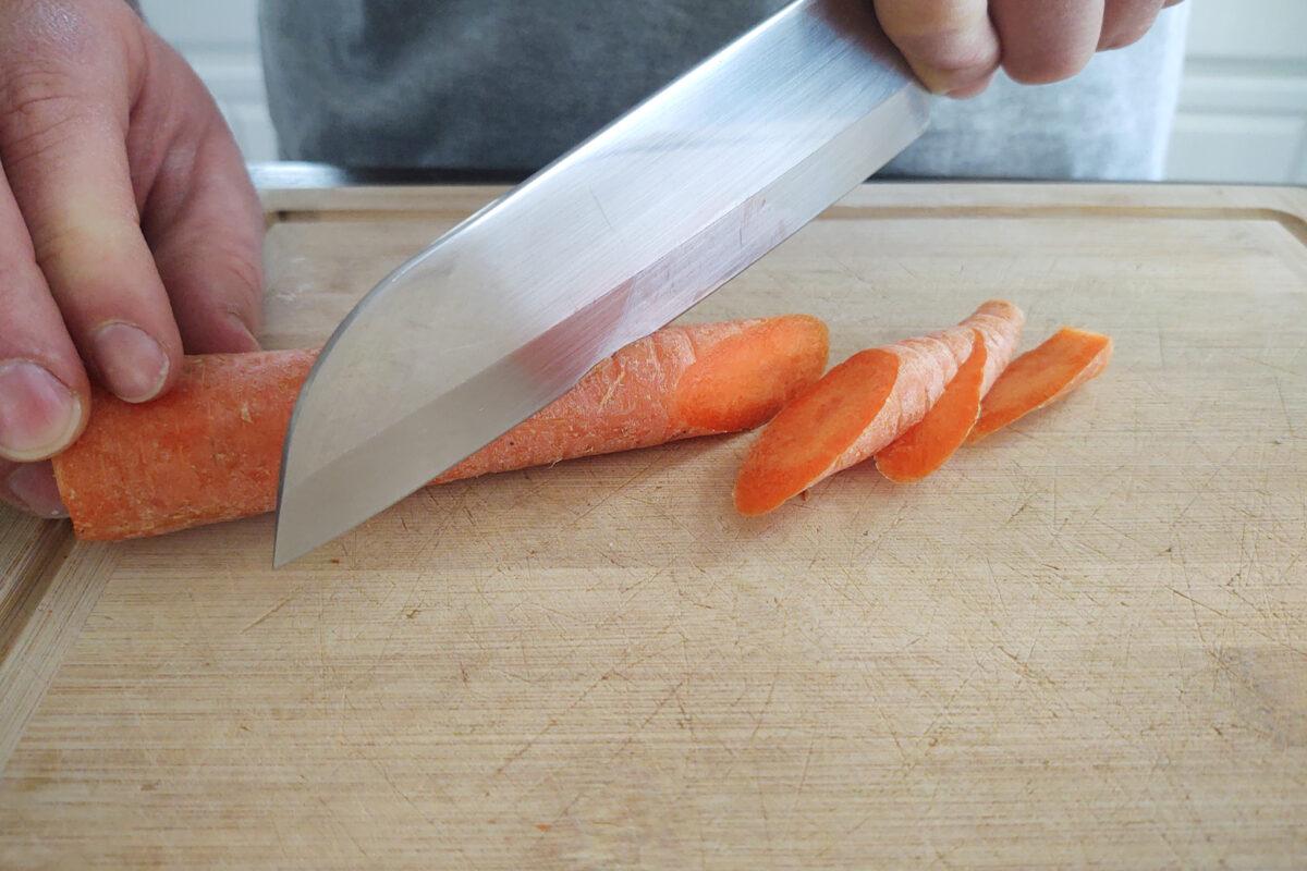Bias cut of carrots