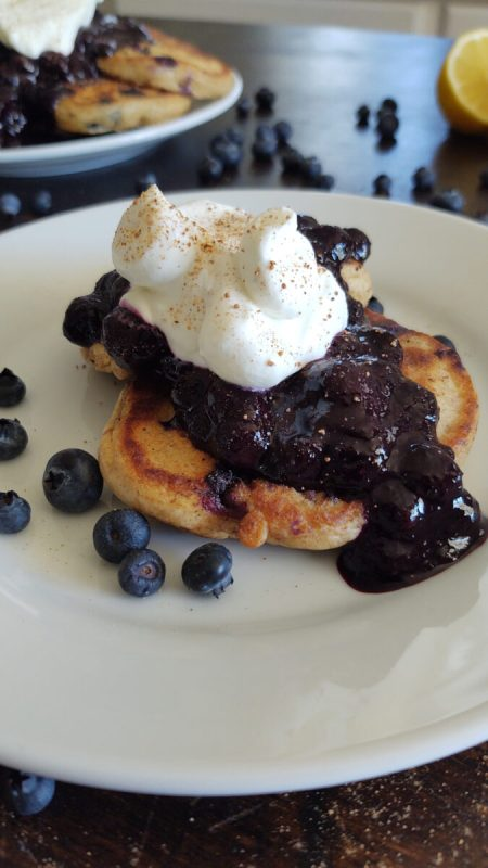 Vertical Thumbnail of Blueberry pancakes