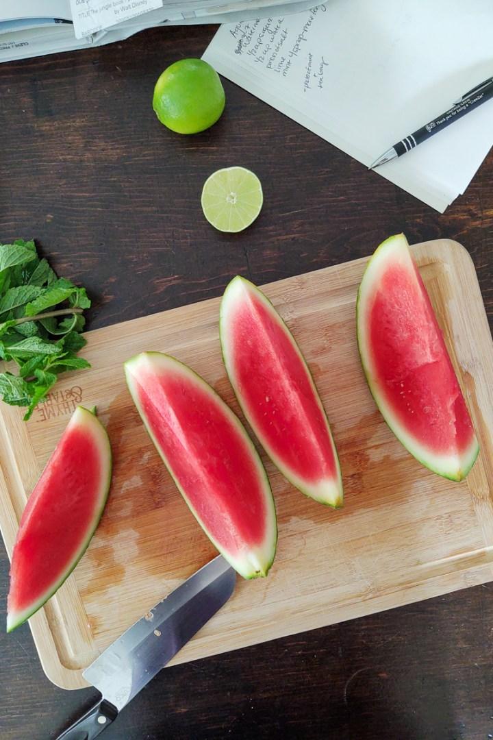 Prep of the watermelon