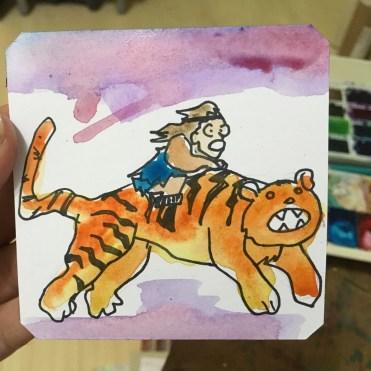 Wild Fang Tiger Attack by @iastSA