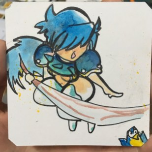 Only in Dank Art will Sephina appear in a Briganty Macaw run @Macaw45