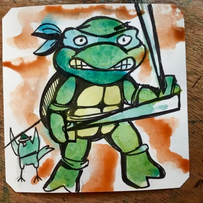 Using that turtle 🐢 power in TMNT on NES @Macaw45