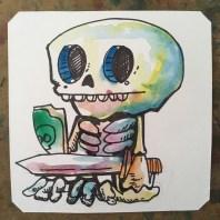 Skelet ahead. Hydlide @macaw45