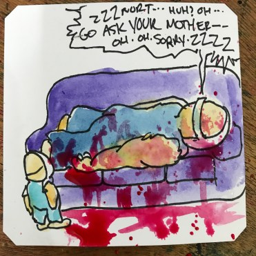 Asking Rick to do something on a Sunday is like asking too much. Splatterhouse @LordBBH
