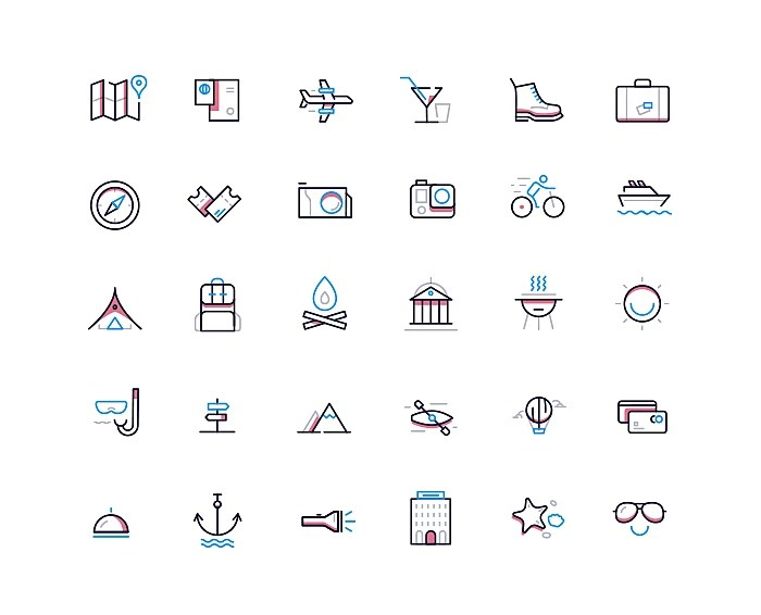 Travel Icons Set Download Free Travel Icons For Website