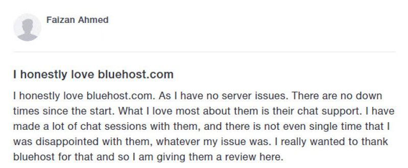 BluehostTestimonial1 300x124 - Bluehost Hosting Review
