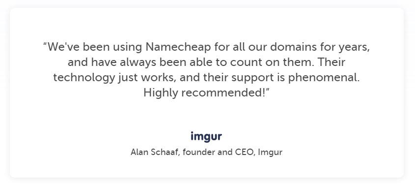 NamecheapTestimonial3 - NameCheap Hosting Review