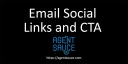 Real Estate CRM Social Links and CTA buttons