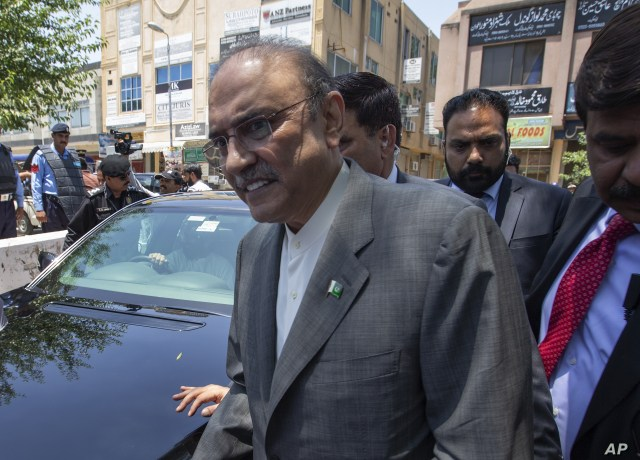 Former Pakistani president and currently a lawmaker in Parliament and leader of Pakistan People's party, Asif Ali Zardari