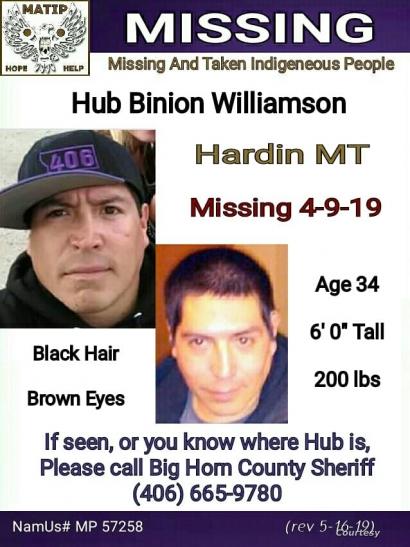 Hub Williamson Missing