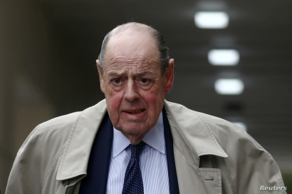 Member of Parliament and grandson of former British Prime Minister Winston Churchill, Nicholas Soames, walks in Westminster, London, Britain, Sept. 3, 2019.