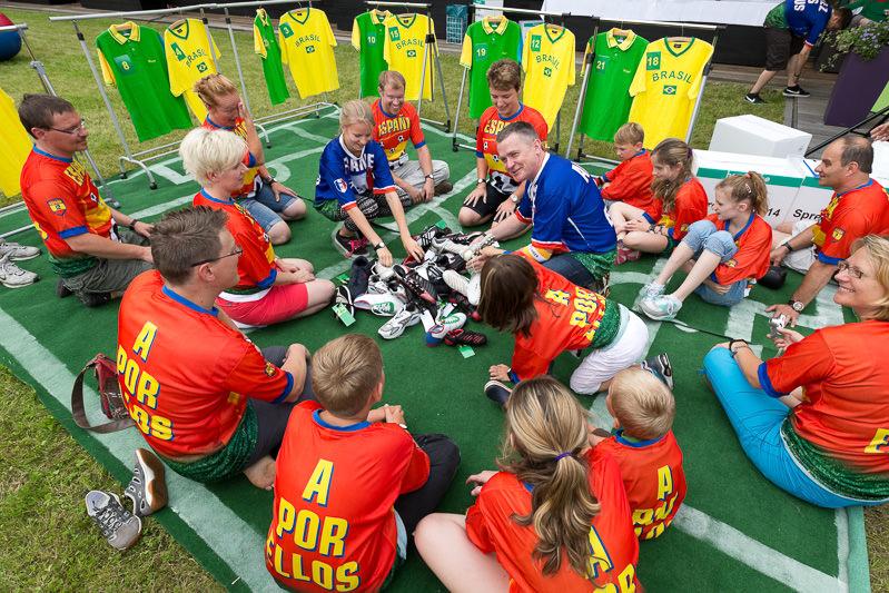 Events, Veranstaltungen, Hansgrohe, I-Club, Familienfest, Incentive, Spreewald, Human Table Soccer, Fussball WM, Agentur Ravensburger