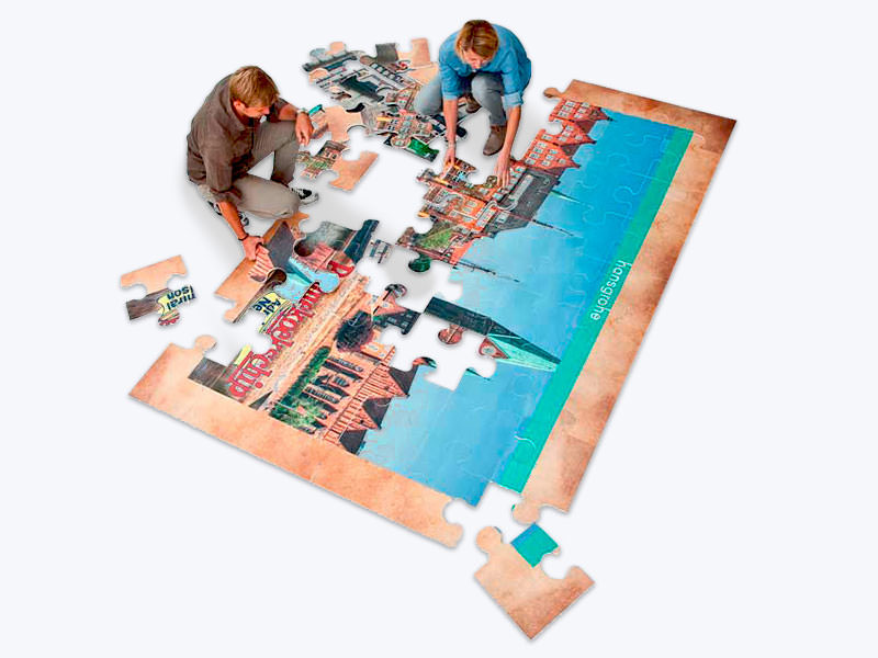 Ravensburger Spielelement, Teambuilding, Puzzle, Messe, individuell, Großspiel, Druck