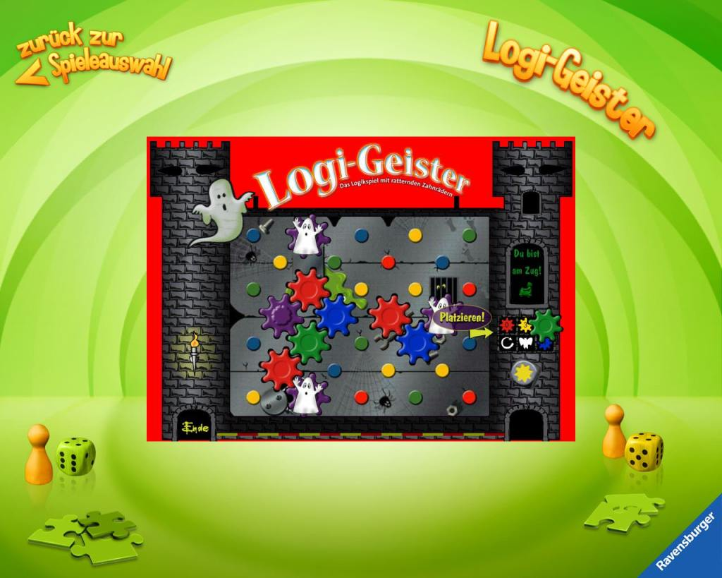 Übersicht der Kinder-Apps, Ravensburger, Kinder Touch Computer, Logi-Geister, Strategie, Lernen, Zahnräder, Logikspiel