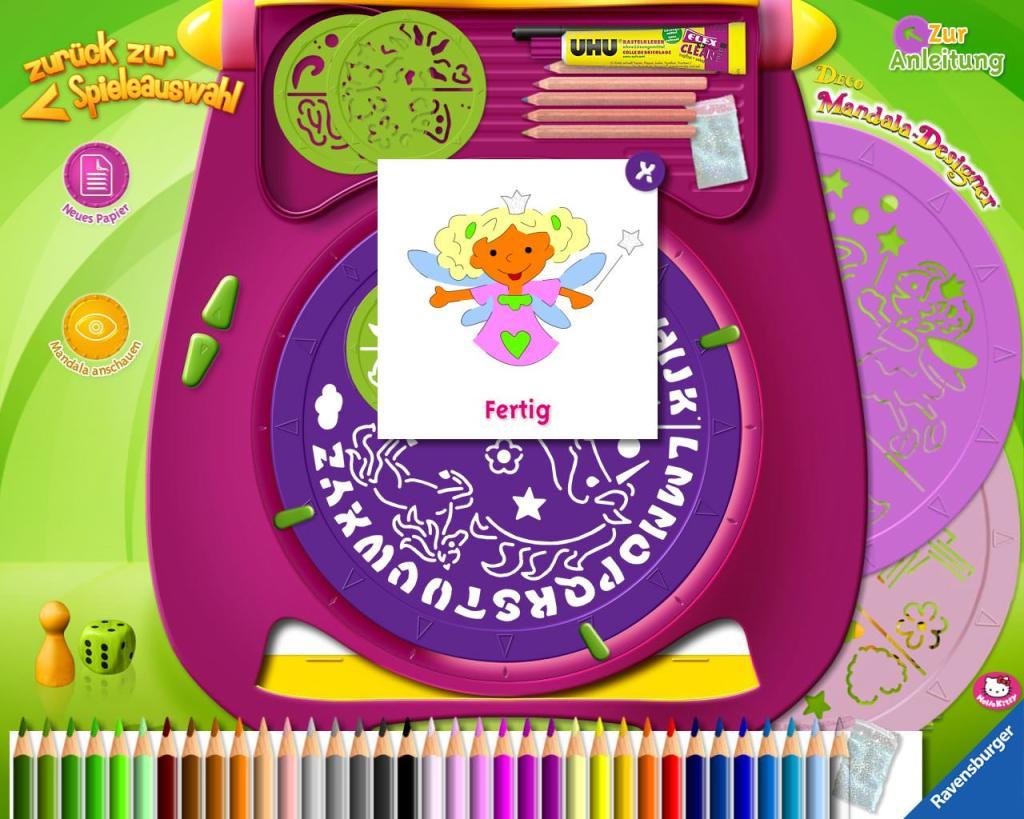 Übersicht der Kinder-Apps, Ravensburger, Kinder Touch Computer, Mandala, Designer, Zeichnen, kreativ, lernen