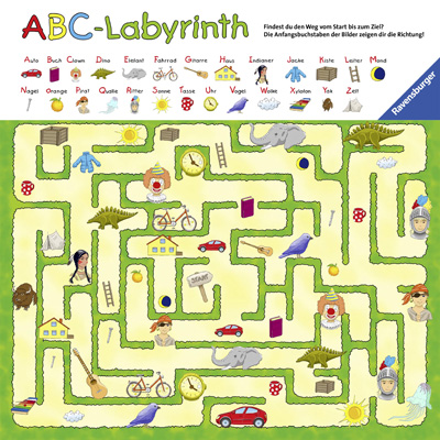 Wandspiel, ABC-Labyrinth, Ravensburger, Spielkasten, Labyrinth,