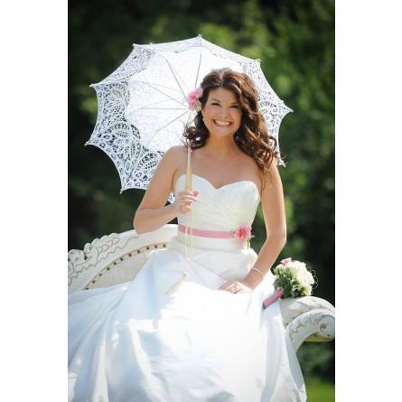 Brautschirm Vivienne weiss
