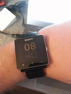 Smartwatch 2 am Armgelenk