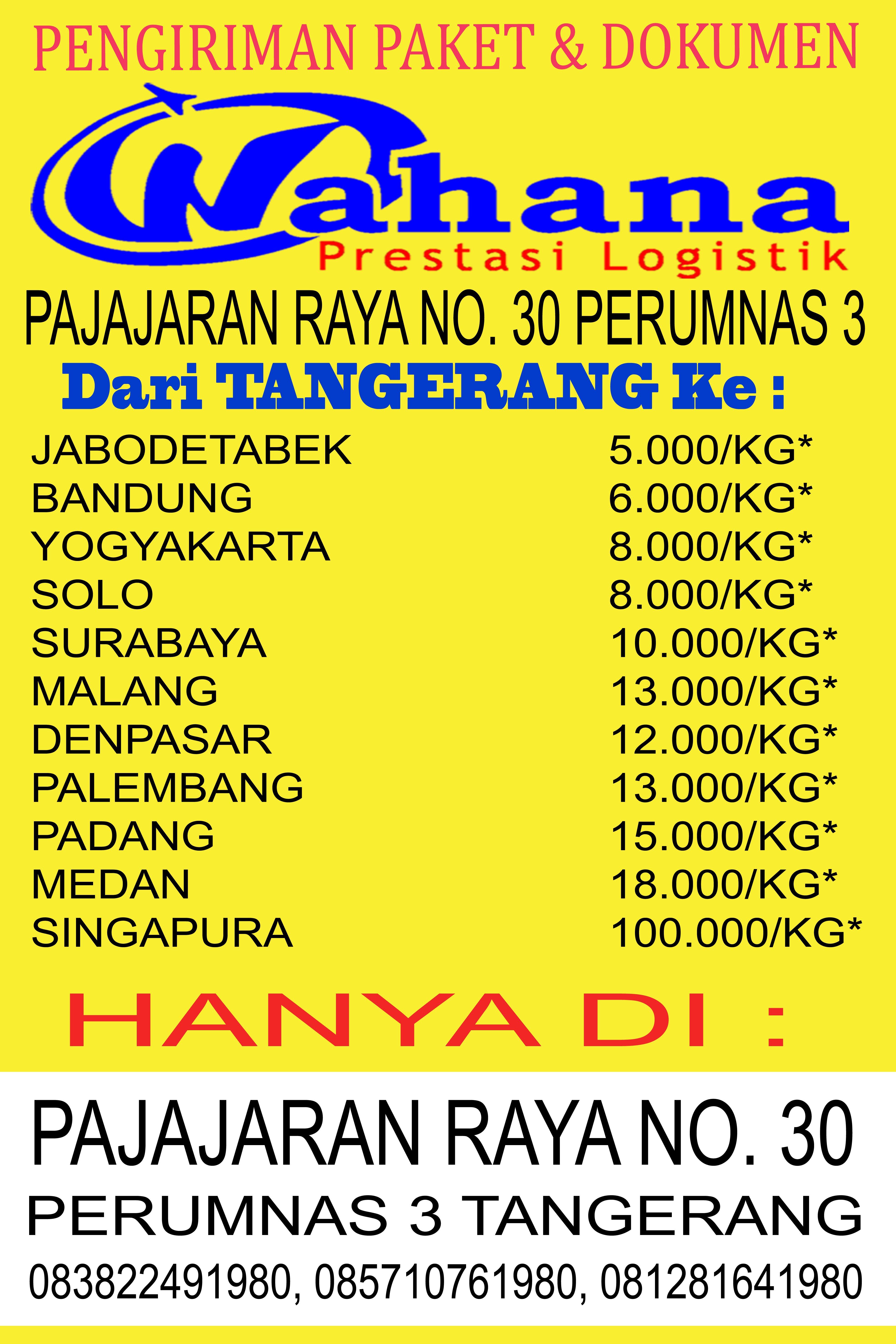 Wahana Cek Tarif : wahana, tarif, Wahana, Pajajaran, Tangerang