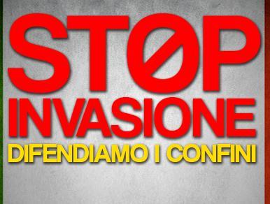 Risultati immagini per stop immigrazione in italia