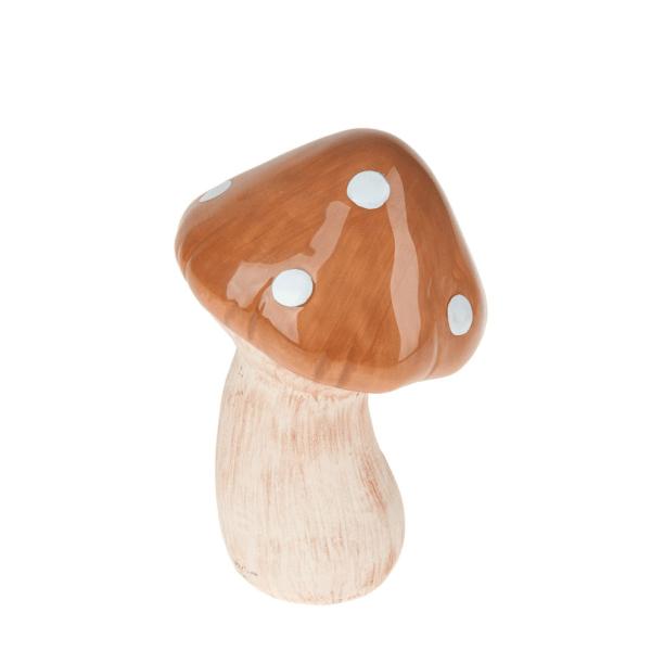 Decoraţiune ciupercă maro