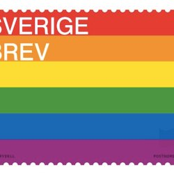 酷新聞:瑞典郵局發行「彩虹旗郵票」 飄揚全世界 推廣平權